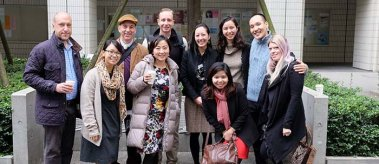 Mary Vo with delegates of the Asia Dialogues program
