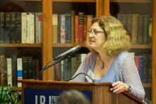 Michele Deitch speaks on prison oversight at a conference of criminal justice experts
