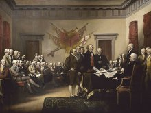 "John Trumbull's painting ""Declaration of Independence"""