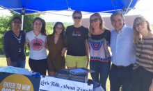 Students with Austin Mayor Steve Adler